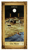 The Moon Tarot card in Sacred Art Tarot deck