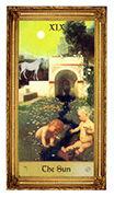 The Sun Tarot card in Sacred Art Tarot deck