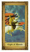 Eight of Wands Tarot card in Sacred Art deck