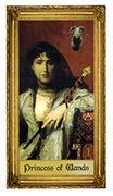 Princess of Wands Tarot card in Sacred Art deck
