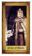 Prince of Wands Tarot card in Sacred Art deck