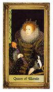 Queen of Wands Tarot card in Sacred Art deck