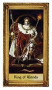 King of Wands Tarot card in Sacred Art Tarot deck
