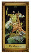 The Emperor Tarot card in Sacred Art Tarot deck