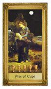 Five of Cups Tarot card in Sacred Art deck
