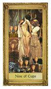 Nine of Cups Tarot card in Sacred Art Tarot deck