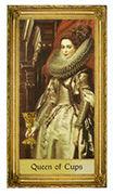 Queen of Cups Tarot card in Sacred Art Tarot deck
