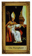The Hierophant Tarot card in Sacred Art Tarot deck
