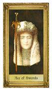 Ace of Swords Tarot card in Sacred Art Tarot deck