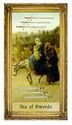Six of Swords Tarot card in Sacred Art deck