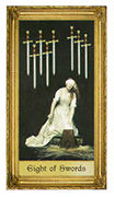 Eight of Swords Tarot card in Sacred Art Tarot deck