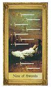 Nine of Swords Tarot card in Sacred Art deck