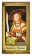 Princess of Swords Tarot card in Sacred Art deck