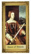 Queen of Swords Tarot card in Sacred Art deck