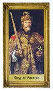King of Swords Tarot card in Sacred Art Tarot deck