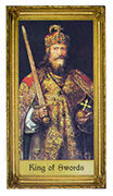 King of Swords Tarot card in Sacred Art deck