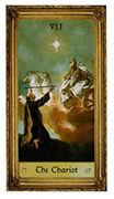 The Chariot Tarot card in Sacred Art Tarot deck