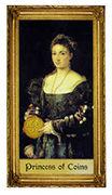 Princess of Coins Tarot card in Sacred Art Tarot deck