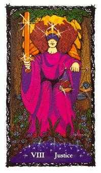 Justice Tarot Card - Sacred Rose Tarot Deck