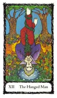 The Hanged Man Tarot Card - Sacred Rose Tarot Deck