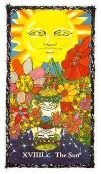The Sun Tarot Card - Sacred Rose Tarot Deck