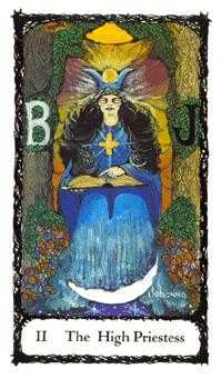 The High Priestess Tarot Card - Sacred Rose Tarot Deck