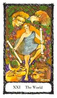 The World Tarot Card - Sacred Rose Tarot Deck