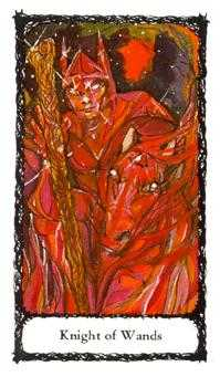 Warrior of Sceptres Tarot Card - Sacred Rose Tarot Deck