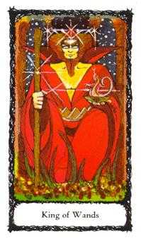 King of Staves Tarot Card - Sacred Rose Tarot Deck