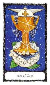 Ace of Ghosts Tarot Card - Sacred Rose Tarot Deck