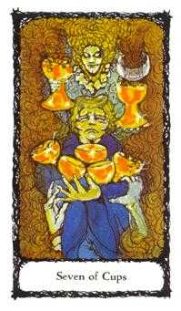 Seven of Cauldrons Tarot Card - Sacred Rose Tarot Deck