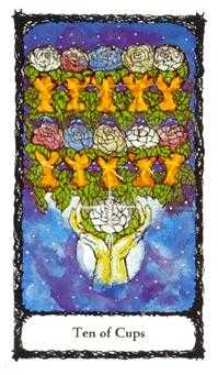 Ten of Hearts Tarot Card - Sacred Rose Tarot Deck