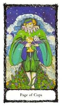 Page of Hearts Tarot Card - Sacred Rose Tarot Deck