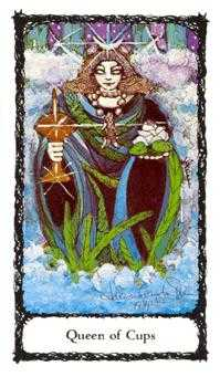 Reine of Cups Tarot Card - Sacred Rose Tarot Deck