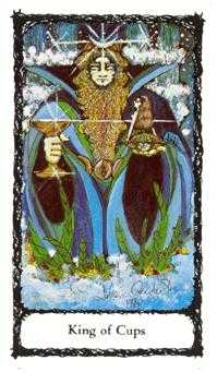 King of Cauldrons Tarot Card - Sacred Rose Tarot Deck