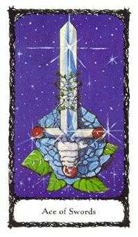 Ace of Swords Tarot Card - Sacred Rose Tarot Deck