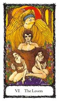 The Lovers Tarot Card - Sacred Rose Tarot Deck