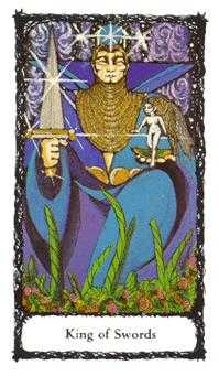 Roi of Swords Tarot Card - Sacred Rose Tarot Deck