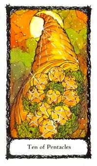 Ten of Rings Tarot Card - Sacred Rose Tarot Deck