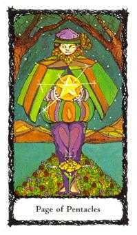 Valet of Coins Tarot Card - Sacred Rose Tarot Deck