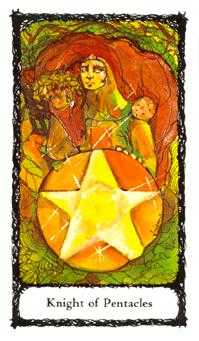 Cavalier of Coins Tarot Card - Sacred Rose Tarot Deck