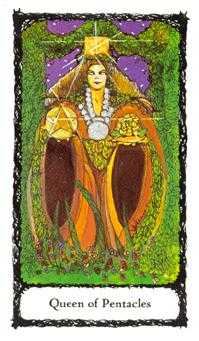 Reine of Coins Tarot Card - Sacred Rose Tarot Deck