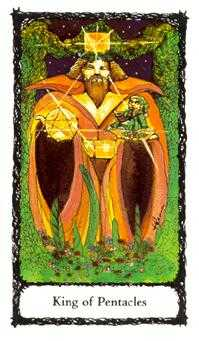 King of Coins Tarot Card - Sacred Rose Tarot Deck