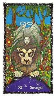 Strength Tarot Card - Sacred Rose Tarot Deck