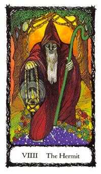 The Hermit Tarot Card - Sacred Rose Tarot Deck
