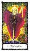 The Magician Tarot card in Sacred Rose deck