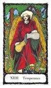 Temperance Tarot card in Sacred Rose deck