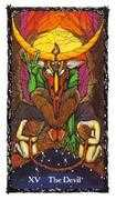 The Devil Tarot card in Sacred Rose deck