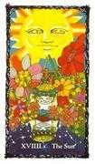 The Sun Tarot card in Sacred Rose Tarot deck
