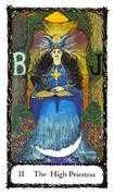 The High Priestess Tarot card in Sacred Rose Tarot deck